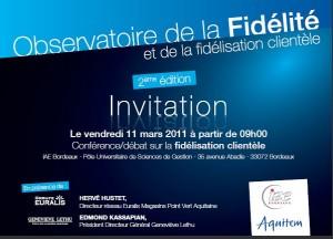 invitation observatoire fidélité 11 mars 2011