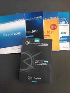 Rapport Observatoire fidélité 2013